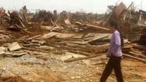 天主教堂被拆成一堆廢墟(內部人士提供)