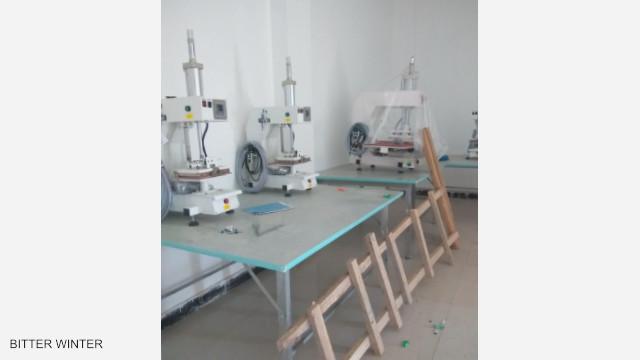 廠房內的機器設備已安裝