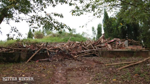 9月26日下午,遂安廟被拆毀