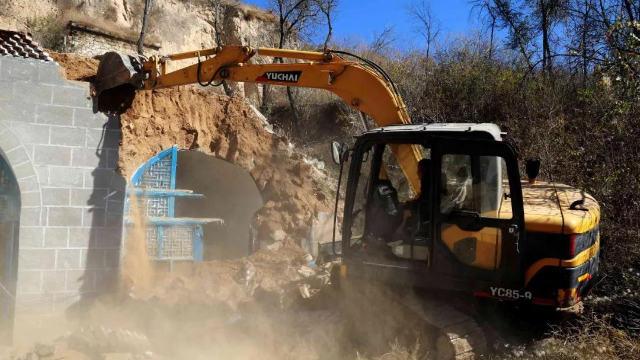政府正在推倒房屋(網絡圖片)