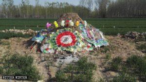 遭當局騷擾後死亡的信徒墓地