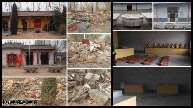 臨沂市佛靈寺佛像被挪走,菏澤市多處廟宇被拆