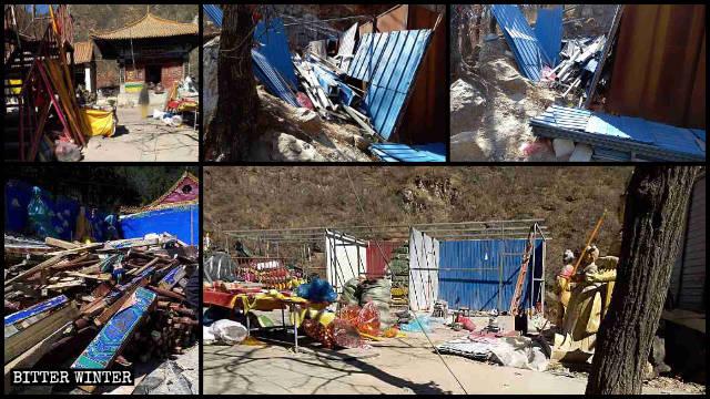 後山奶奶廟大部分廟宇被拆毀