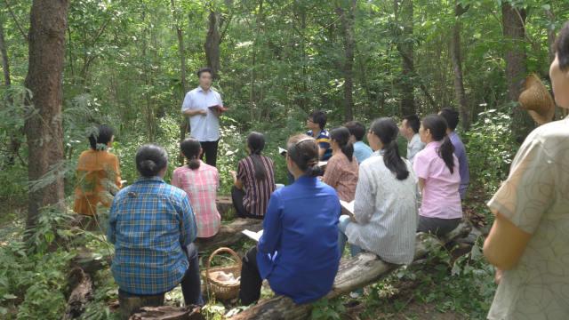 家庭教會信徒在樹林裡聚會(網絡圖片)