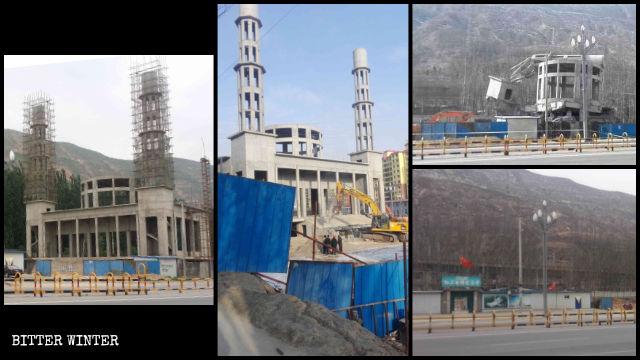 清真寺被拆前、後