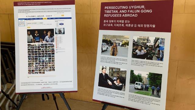 首爾會議期間的《寒冬》圖片展