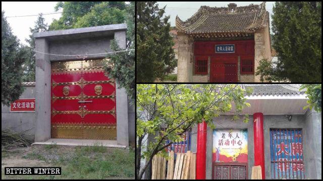 鳳鳴鎮的廟宇被改成文化活動中心、老年活動中心
