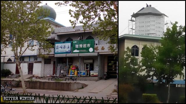 塔西女寺寺頂的圓形建築被「中國化」