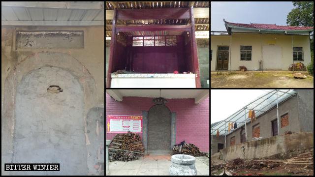 多處寺廟被清理,廟門被封死