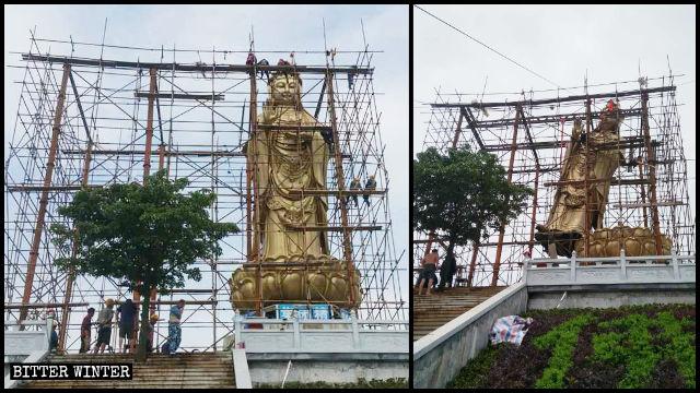 慶國寺觀音像被拆中