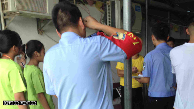 政府人員突襲江西省廬山市一教堂夏令營活動