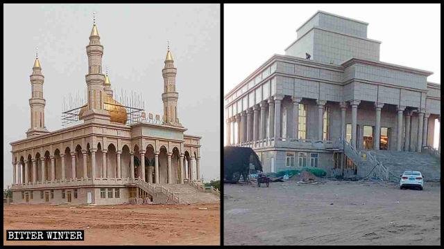 中共洗腦阿訇宣傳黨思想促伊斯蘭教中國化 清真寺標誌再遭拆