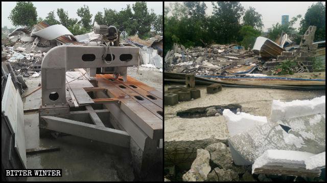 湖北省崇陽縣106國道邊的13家個體企業被強拆