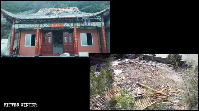 玉環市一道教廟宇被拆除