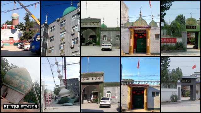 鄭州市多處清真寺圓頂及新月標誌被強拆