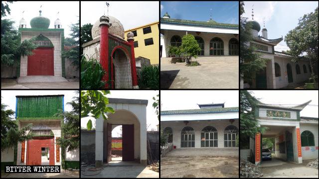 新密市至少15所清真寺的圓頂和新月標誌被拆除