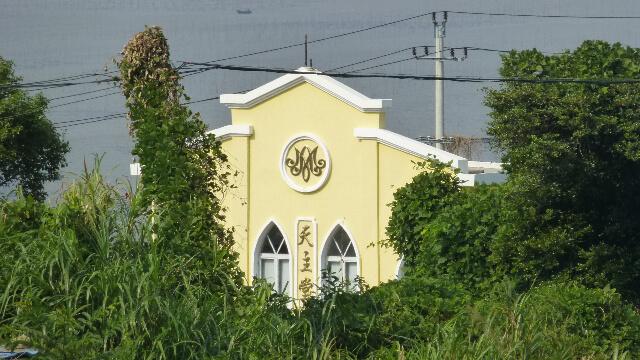 浙江省蒼南縣赤溪鎮大門山島附近沿海路旁的一座天主教堂。(Vmenkov - CC BY-SA 3.0)