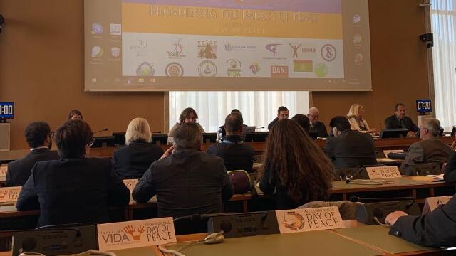 國際和平日活動在聯合國日內瓦辦事處舉行:受迫害的新興宗教為世界和諧與正義付諸努力
