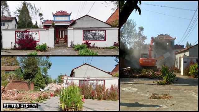 天府廟被拆前後