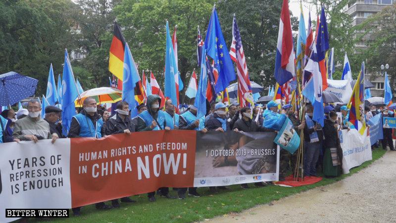 布魯塞爾抗議活動現場