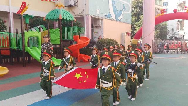 江西省一幼兒園舉行升旗儀式(知情人提供)
