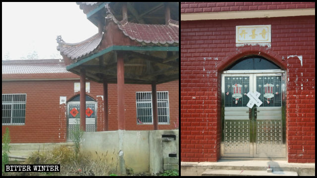 老人被送進養老院的當天,開善寺被貼上封條