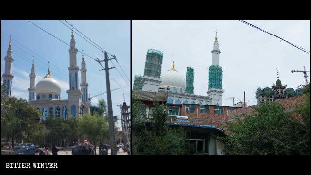 臨夏縣韓集鎮磨川清真大寺已被「中國化」