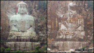 雕刻11年29米釋迦牟尼山體雕像遭炸毀 中共欲將佛滅盡