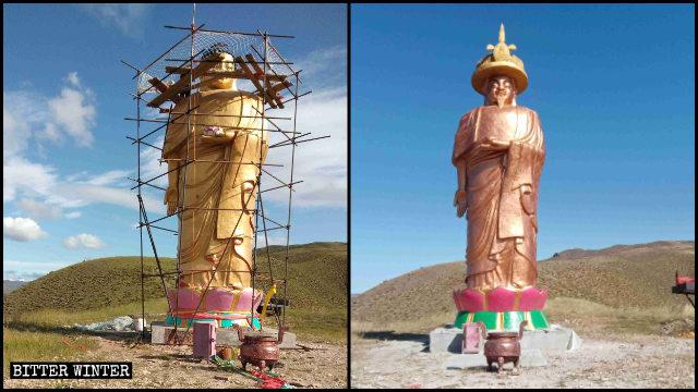 阿彌陀佛像頭部被改成康熙像