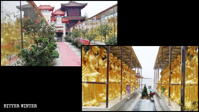 羅漢寺400多尊佛像被玻璃房遮蓋