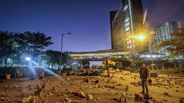 香港城市大學與警方發生衝突後(Studio Incendo - CC BY 2.0)