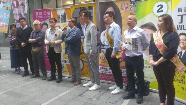 「2047香港監察」的主要召集人錢志健先生向《寒冬》提供的民主派陣營的照片