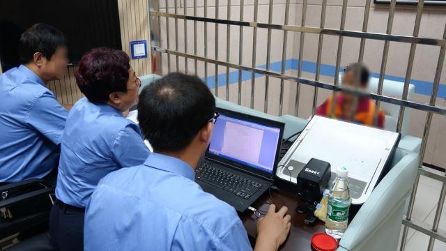 山西警方在看守所审讯中(网络图片)