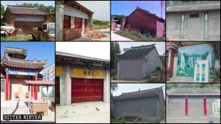 國家統一政策有無證都封廟 多地大量寺廟遭水泥堵死門窗