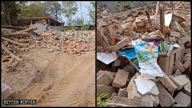 讚美派家庭聚會點被拆成廢墟