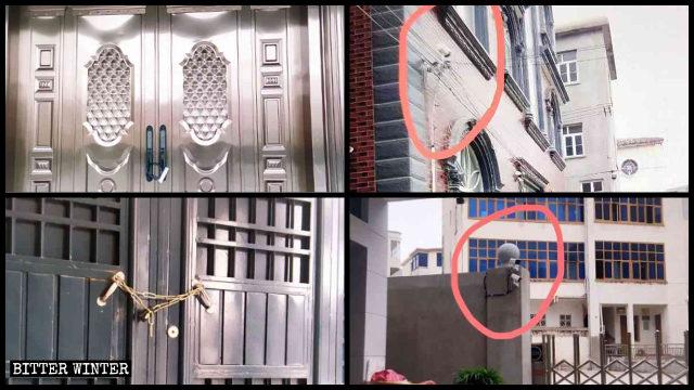 福清市多處地下聚會點被政府強制上鎖和安裝監控