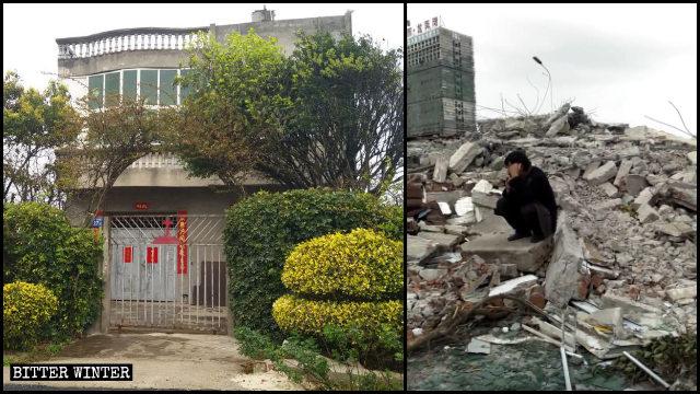 11月26日,蔡和生的家被拆成廢墟