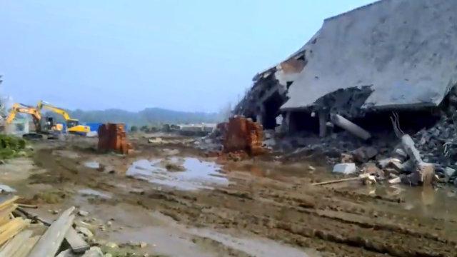 隆福禪院被拆為廢墟(知情人提供)