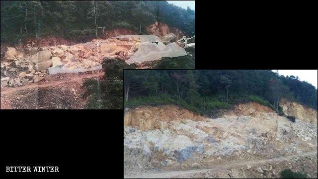 德化縣70米的臥佛被拆除