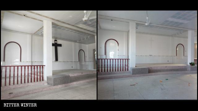溫泉鎮一地下天主堂於11月被清空