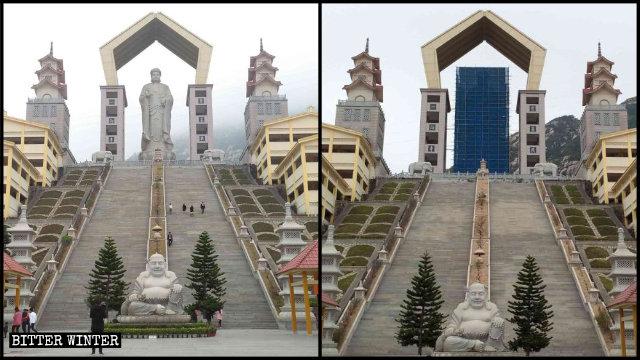 阿彌陀佛像被封蓋