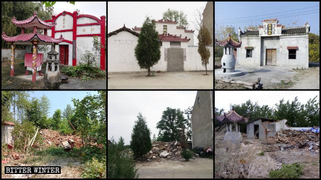 2019年,湖北省多處民間宗教寺廟被拆毀