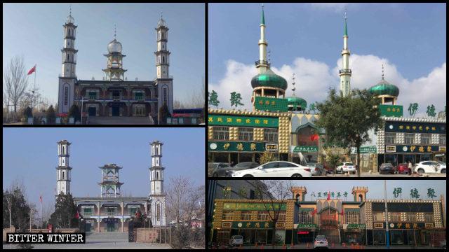 寧夏銀川清真寺伊斯蘭標誌被拆除