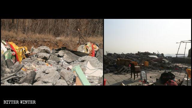 12月30日,聖壽寺成了一片廢墟