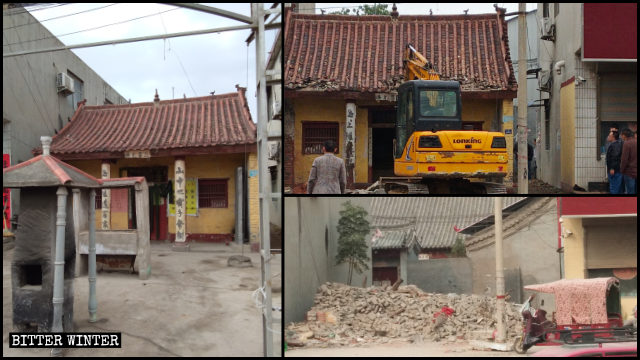 許昌白衣堂道家寺廟被拆除