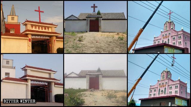 江蘇連雲港灌雲縣去年6月至少37處三自教堂十字架被拆