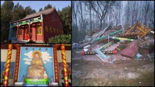 武漢肺炎期間中共仍打壓宗教 強拆佛廟砸基督教聚會點