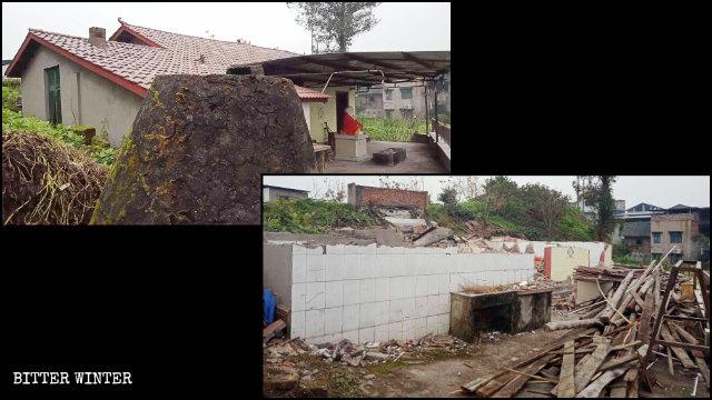 璧山區七塘鎮鳳凰庵於今年1月被搗毀