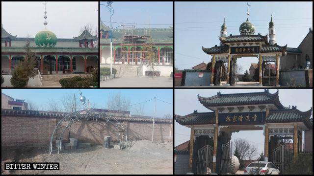 甘肅平涼市崆峒區多處清真寺伊斯蘭標誌被拆除