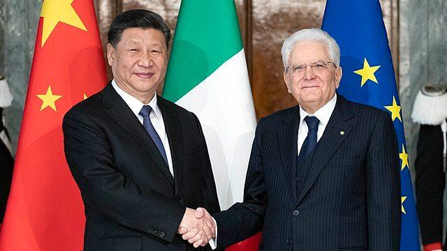 習近平拜訪意大利總統塞爾吉奧·馬塔雷拉